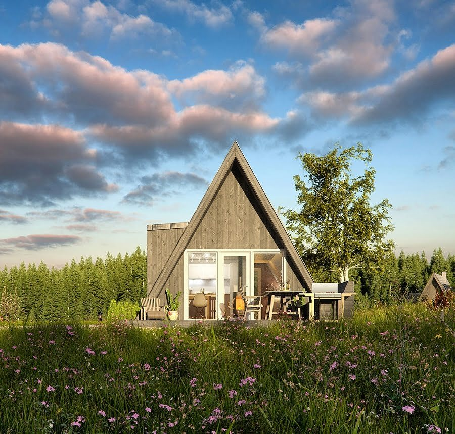 a-frame prefab house kit