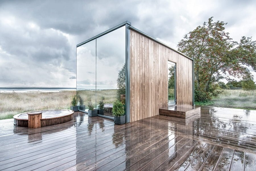 prefab glass house