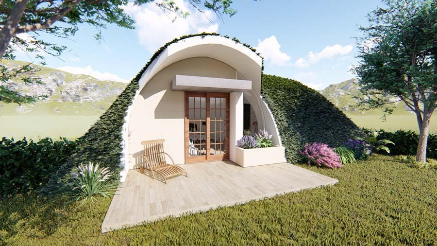 prefab hobbit house