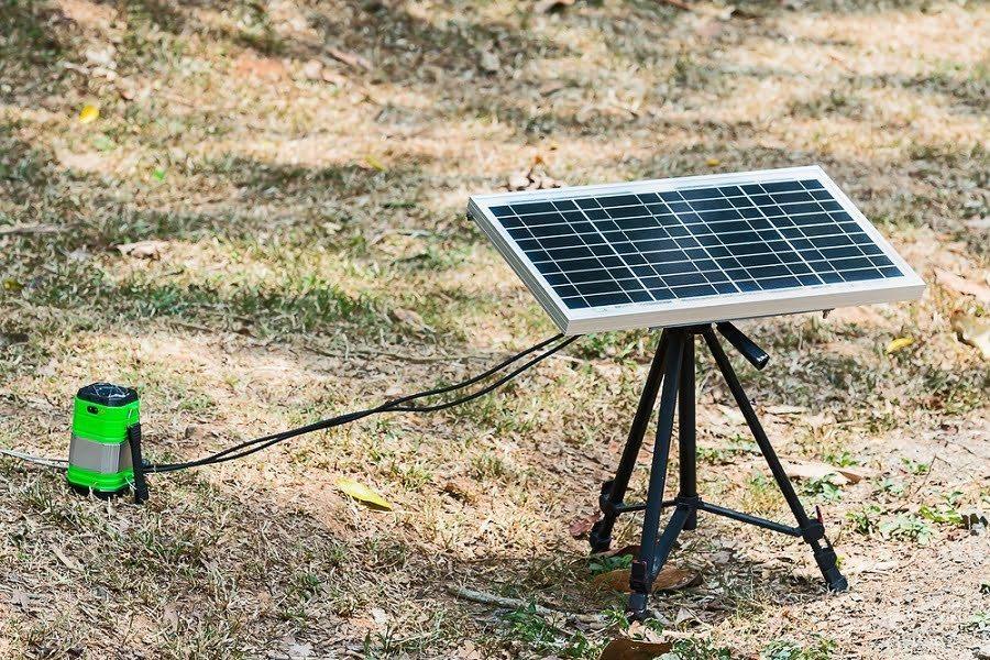 12V portable solar panel