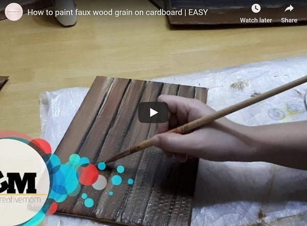 make cardboard look like wood video
