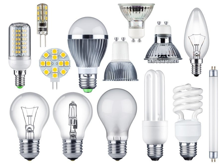 types of lightbulbs