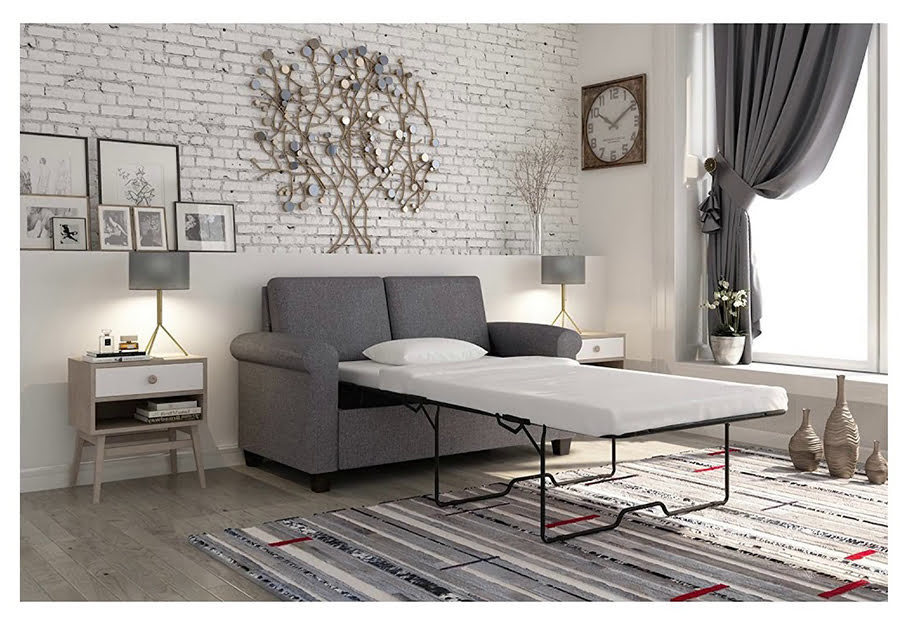 Fold out loveseat