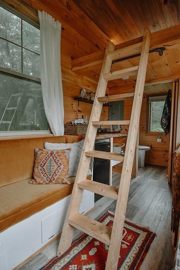 Tiny house loft ladder