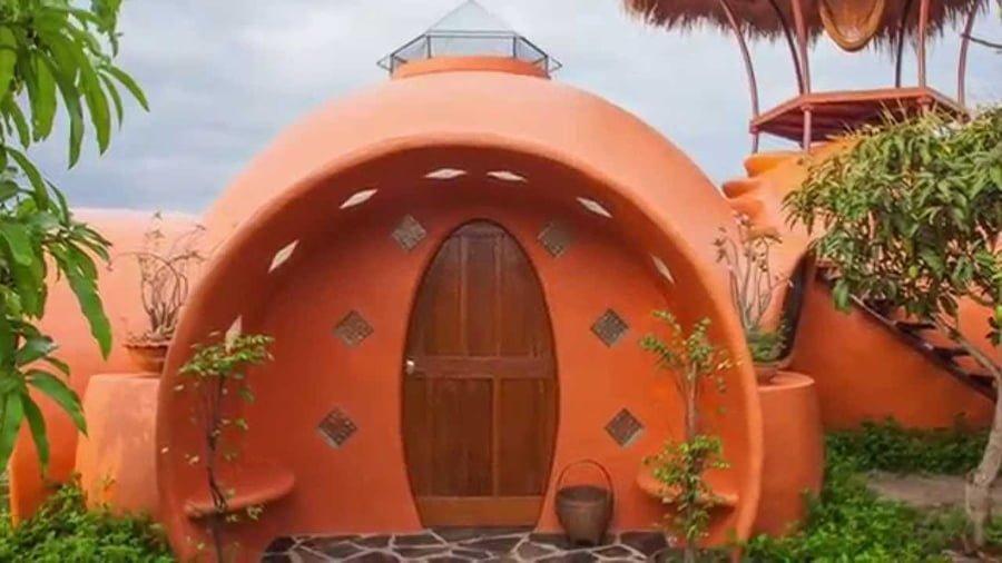 Aircrete dome house