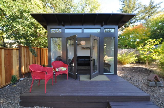 Outdoor office shed