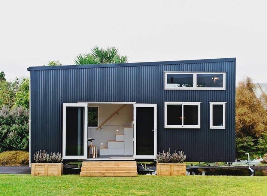 Semi-trailer tiny house