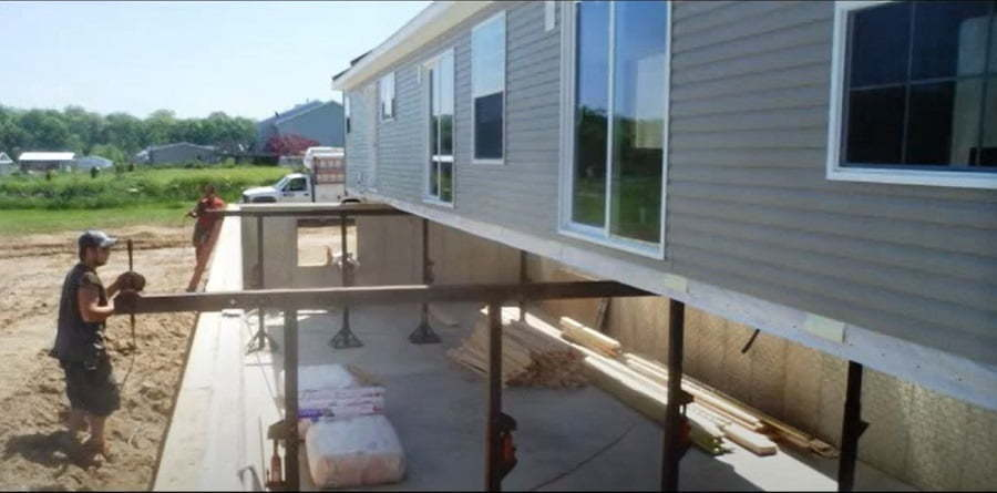 manufactured home over basement