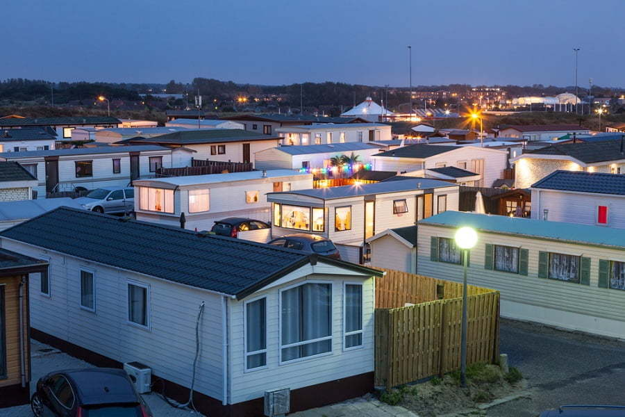 a community of manufactured homes