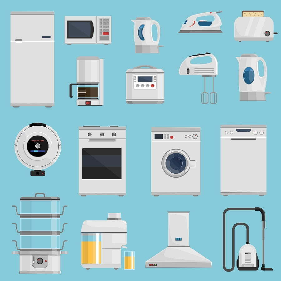 types of appliances