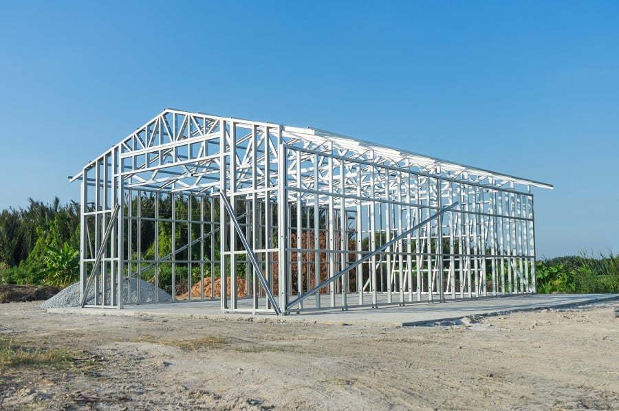 metal house frame