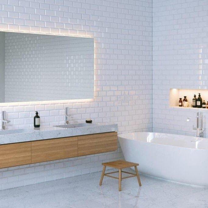 bathroom tile effect