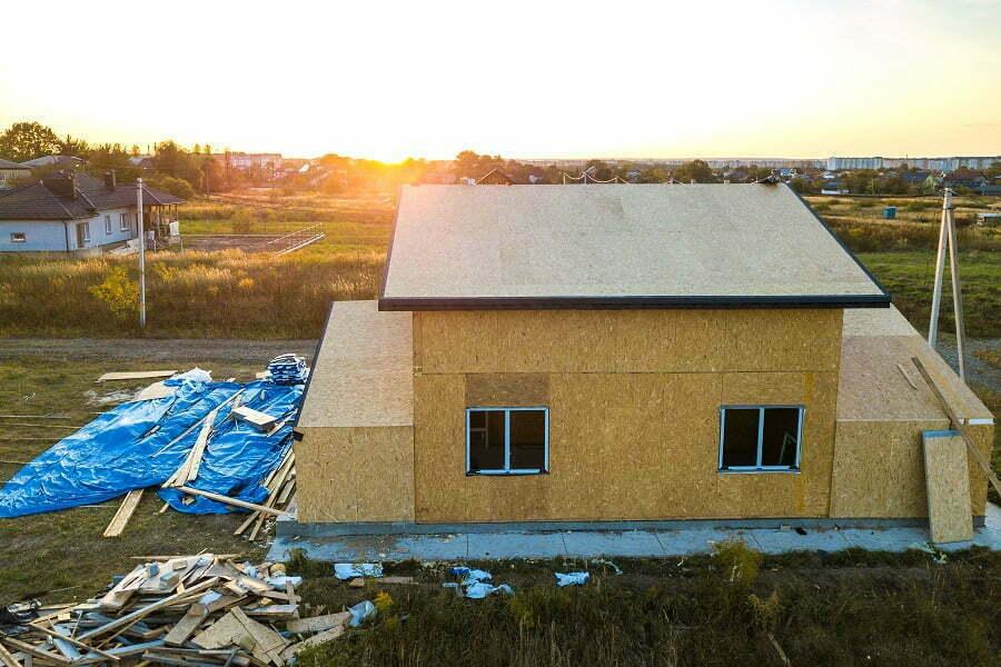 modular house on foundation